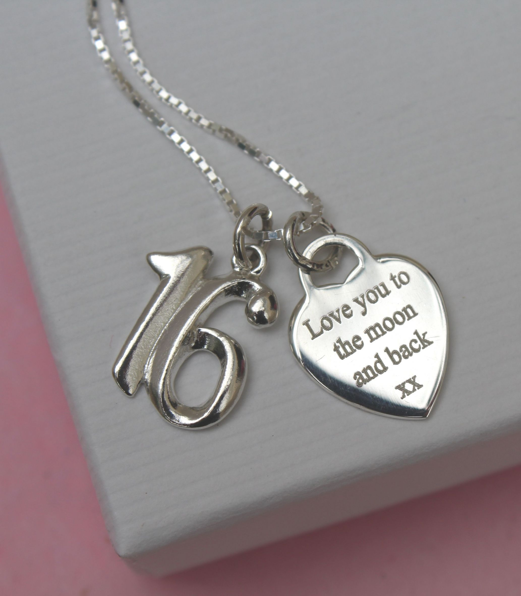 Personalised 16th Birthday Gift Necklace