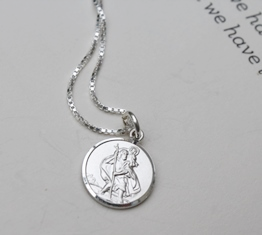 Personalised gift St Christopher necklace - FREE ENGRAVING