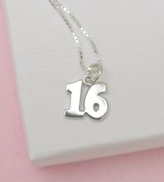Silver 16th gift birthday necklace