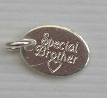 Special Brother delicate silver tag