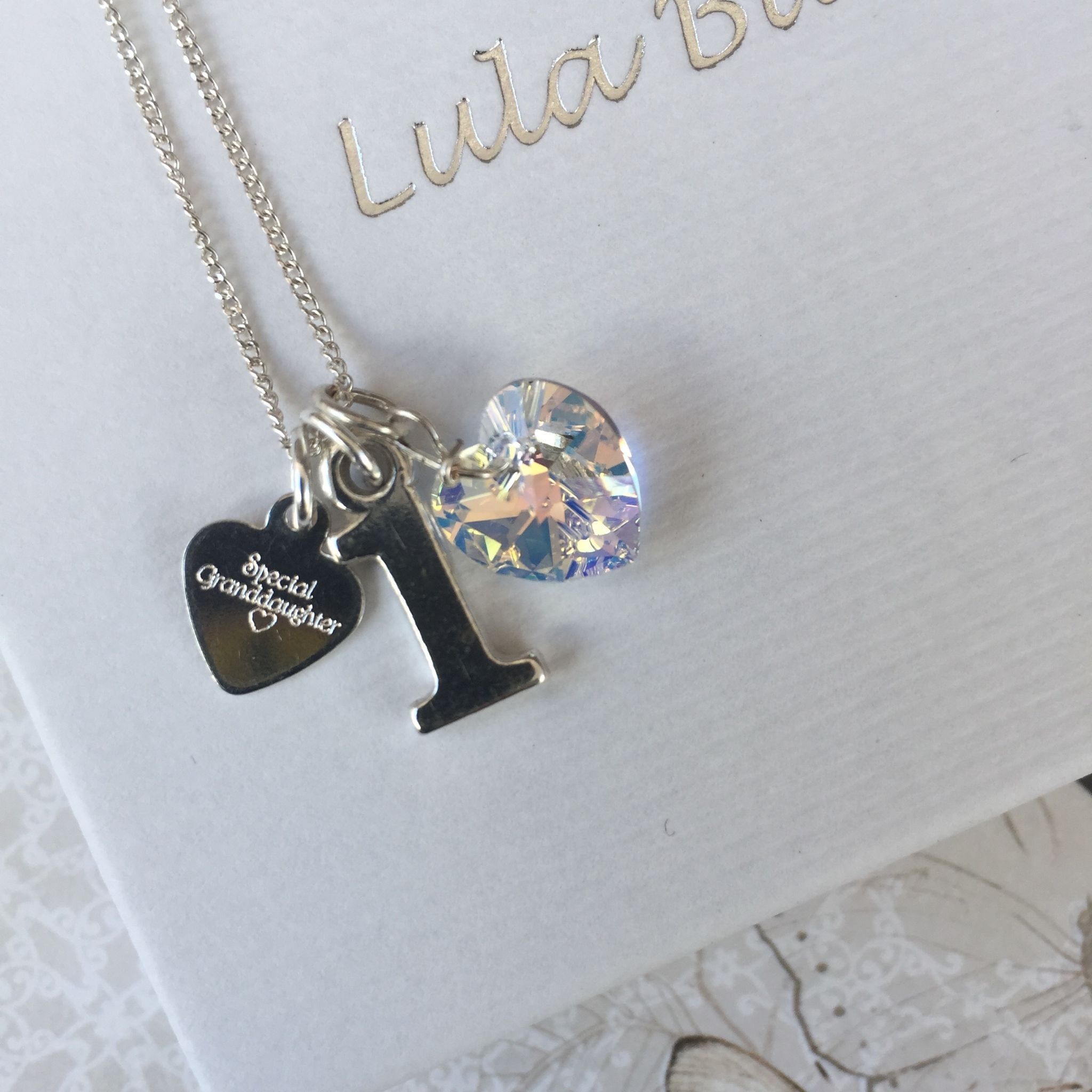 1st Birthday Silver Jewellery Gift For A Granddaughter 12248 P