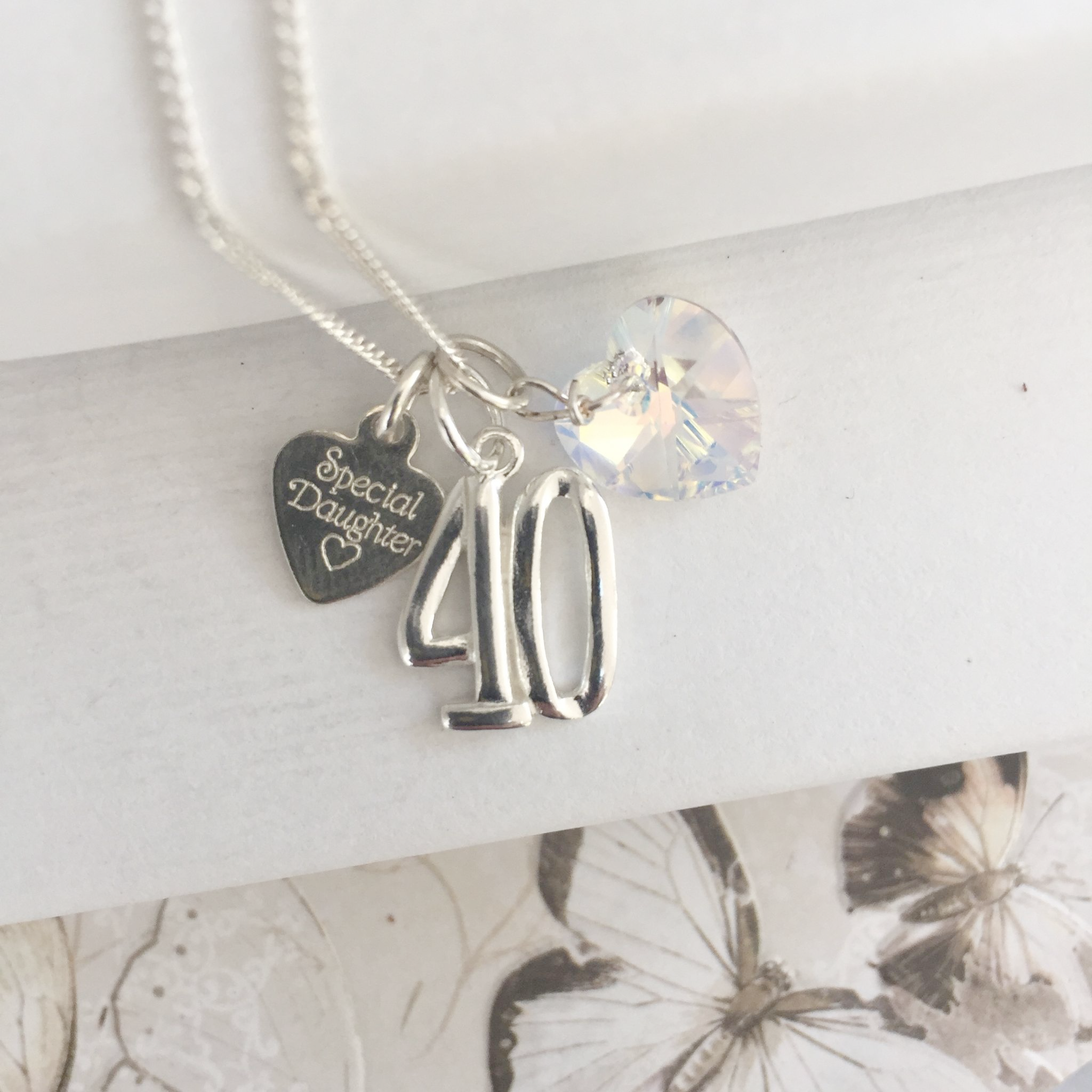 40th Birthday Gift Necklace 7929 P