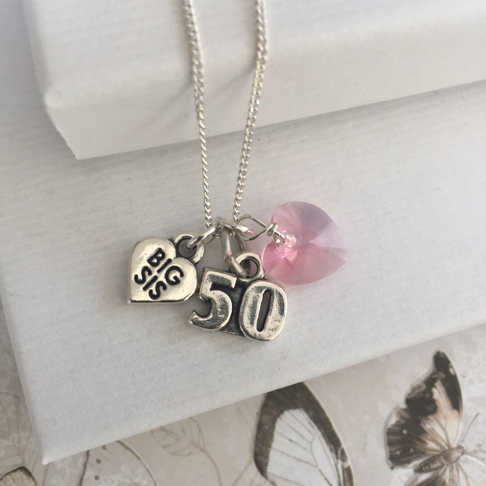 Big Sister 50th Birthday Gift Necklace