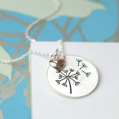 Dandelion wishes necklace