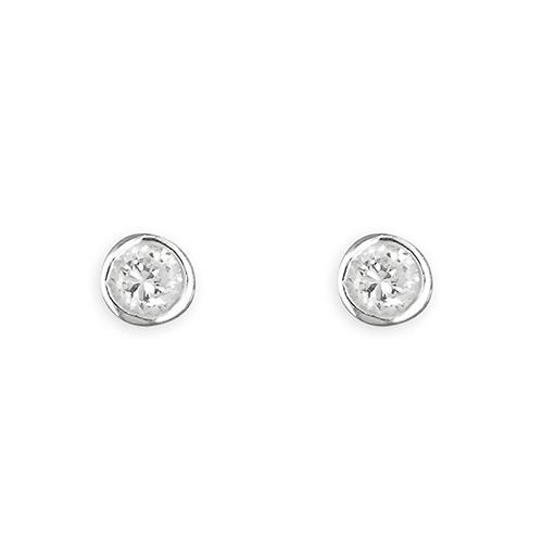 First Holy Communion gift -  silver cz earrings