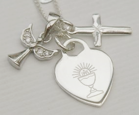 Holy Communion silver jewellery gift - FREE ENGRAVING