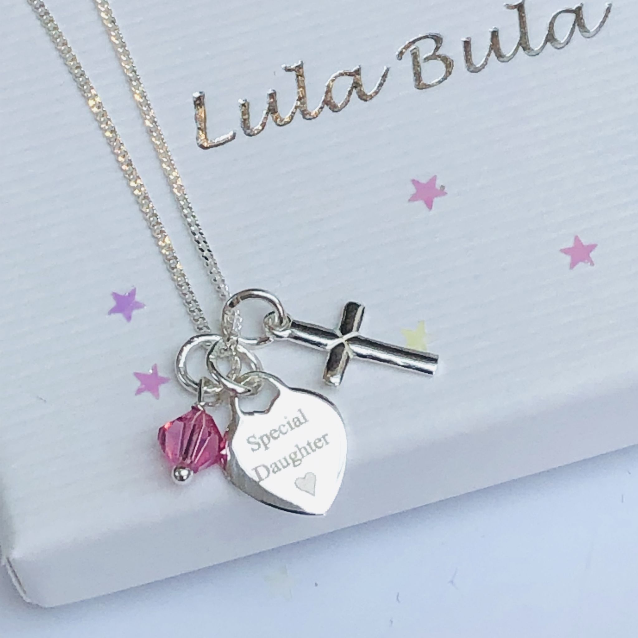 Sterling Silver Necklace for First Holy Communion New! Personalised Engraving