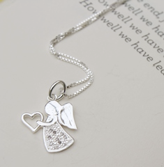 Jewellery gift guardian angel necklace
