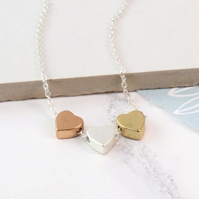 Jewellery gift - hearts necklace