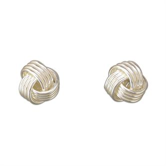 Silver knot earrings