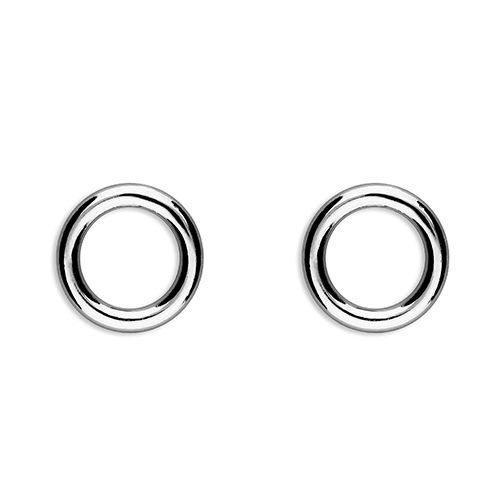 Sterling silver eternity circle earrings - small