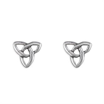 Wedding jewellery - silver celtic knot  earrings