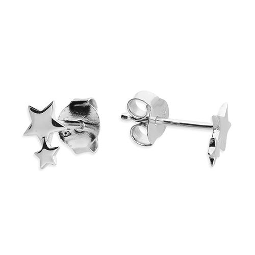 Wedding jewellery - silver star stud earrings